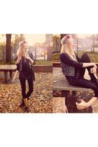 romwe bag - choiescom boots - madladycouk leggings - romwe vest