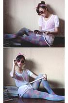 bubble gum Flatterbuy accessories - sky blue wagwmultiplycom stockings