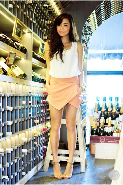 white sabellisima top - peach Sheinside shorts