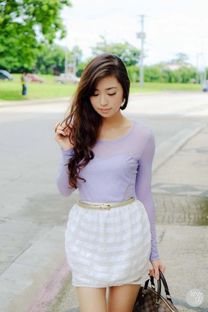 periwinkle Kryz Uy for Romwe top