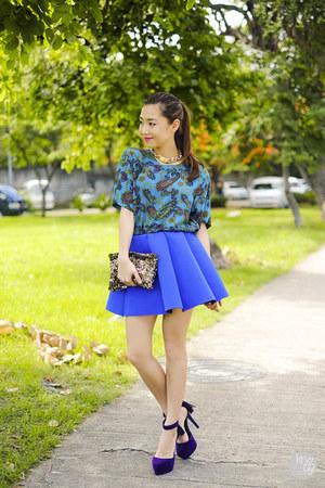 blue Choies skirt