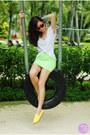 Red-hk-sunglasses-yellow-flossy-flats-lime-green-windsor-skirt