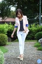 light pink WAGW blazer - white Yesstyle jeans - navy WAGW top