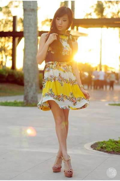 yellow WAGW dress