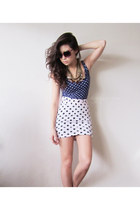 navy cole n terry vintage dress - bubble gum iwearsin skirt