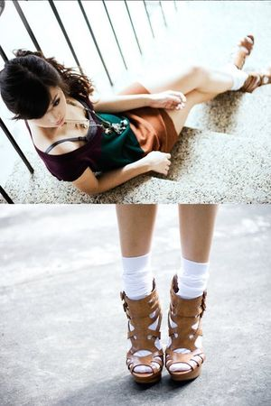 brown WAGW sweater - brown michael antonio shoes - silver WAGW accessories