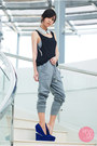 Black-wagw-top-navy-michael-antonio-heels-silver-romwe-accessories
