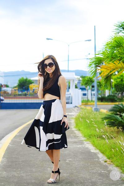 black Eunice Sason skirt - black Klarra top