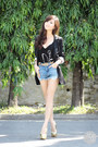 Black-iwearsin-blazer-blue-romwe-shorts-gold-mango-belt