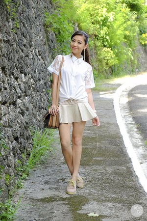 white WAGW top - off white Choies skirt