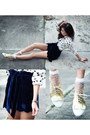 Gold-cole-vintage-shoes-navy-virgos-lounge-shorts-white-romwe-socks