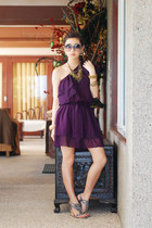 purple love doll dress - heather gray vnc heels