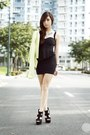 Black-korean-rose-dress-lime-green-lulus-blazer-black-call-it-spring-heels
