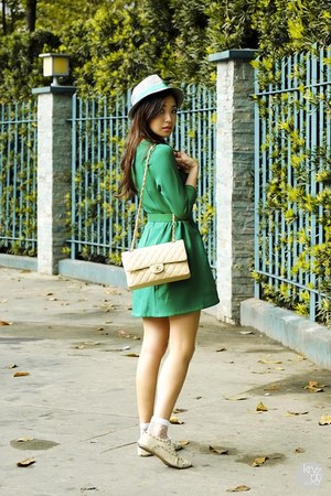 green romwe dress