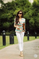 cream lemon blazer - dark brown Burberry sunglasses