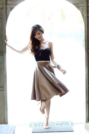 dark khaki WAGW skirt