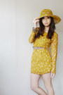 Gold-i-made-it-dress-yellow-marikina-hat-light-brown-tyler-belt-carrot-ora