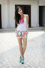 White-closet-goddess-blazer-orange-dvf-x-gap-shorts
