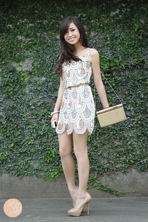 white TFNC LONDON dress - eggshell Call it Spring heels