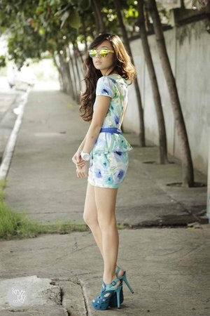 aquamarine Clothes Off dress - light yellow Zero UV sunglasses