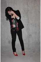 Zara blazer - Zara heels - Costa Blanca top - Mango pants