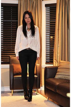 Topshop boots - Zara pants - H&M blouse
