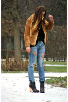 camel fur - jacket