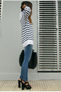 Black-office-shoes-black-leather-zara-bag-white-striped-zara-jumper