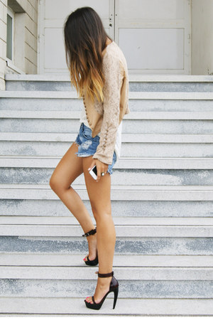 peach Fox House jacket - dark brown Jeffrey Campbell shoes