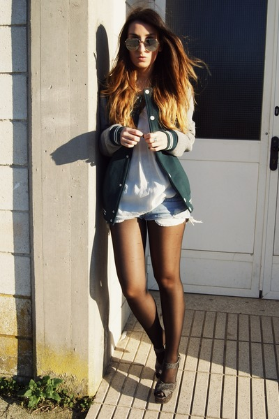 dark green Zara jacket