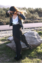 black Zara skirt - black Fox House shoes
