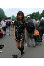 black Topshop dress - gray Les Prairies Des Paris shoes