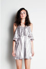 Pleated-dress