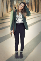 forest green js millenium blazer - dark brown Dr Martens shoes