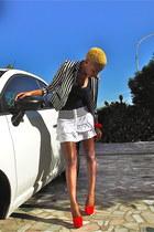 Berskha top - H&M blazer - Berskha skirt - asos heels