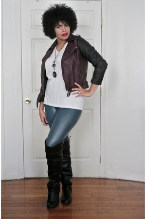 faux leather H&M jacket