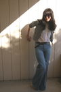 Anthropologie-jacket-white-thrift-blouse-brown-urban-outfitters-belt-blue-