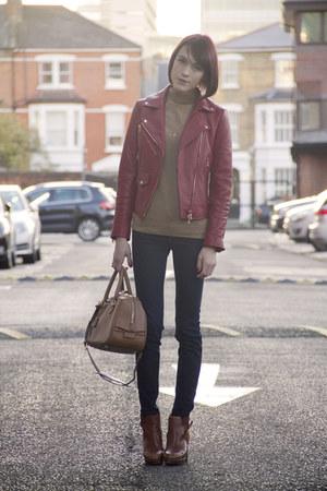 Club Monaco jacket - Massimo Dutti boots - J Brand jeans - Club Monaco sweater