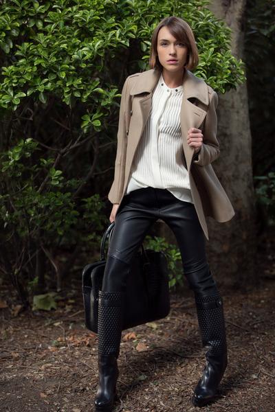 Belstaff boots - Belstaff coat - Belstaff bag - Belstaff pants - Belstaff blouse