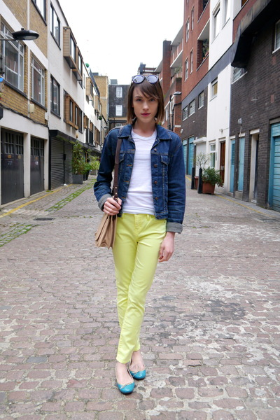 Neon-armani-exhange-jeans-vintage-jacket-whistles-bag-french-sole-flats