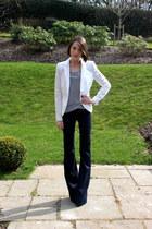 J Brand jeans - J Brand blazer - Anne Bowe Jewellery necklace - J Brand top