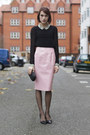 Anya-hindmarch-bag-kurt-geiger-heels-whistles-blouse-topshop-skirt