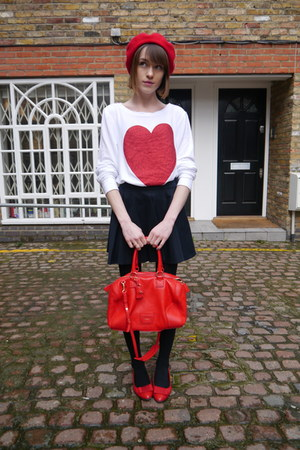 wildfox couture sweatshirt - American Apparel hat - Jaeger London bag