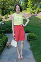 Osprey bag - whistles skirt - whistles blouse - Kurt Geiger sandals