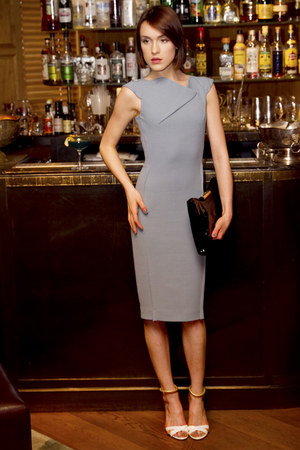Roland Mouret dress - Alexander McQueen bag