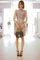 Chloe bag - Victoria Victoria Beckham dress - Valentino heels