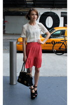 whistles skirt - Marc Jacobs bag - Anne Bowes Jewellery necklace