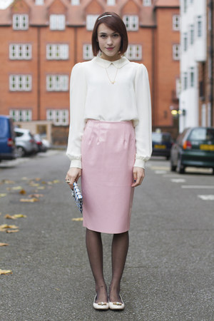 Topshop skirt - whistles bag - LK Bennett flats - Anne Bowes Jewellery necklace