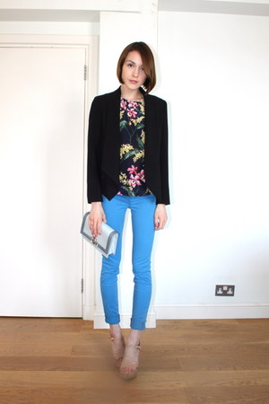 J Brand jeans - whistles blazer - Alberta Ferretti bag - whistles top
