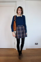thrifted vintage skirt - Comptoir des cottoniers coat - Massimo Dutti sweater